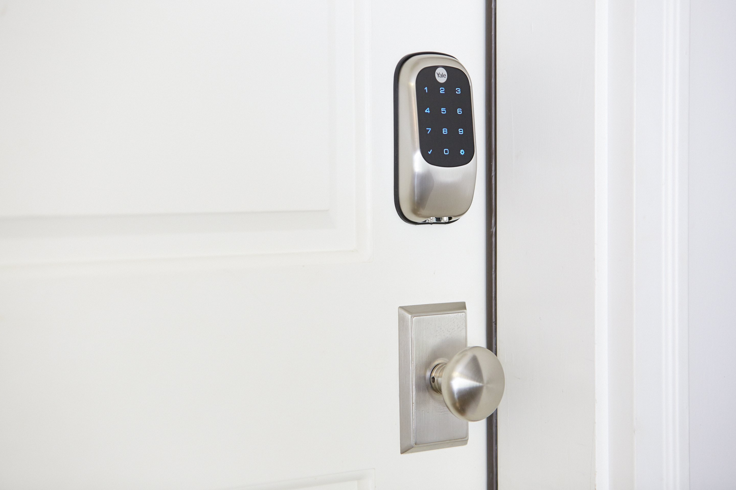 Smart lock on front door