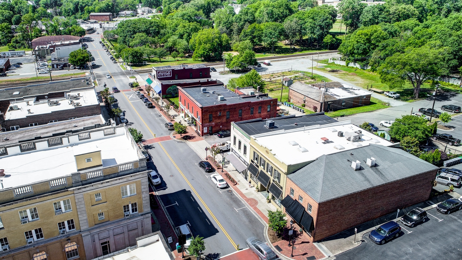Laurel Walk Downtown Belmont 2 Drone