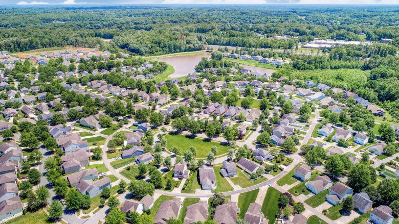 Kinderton Aerial Community View