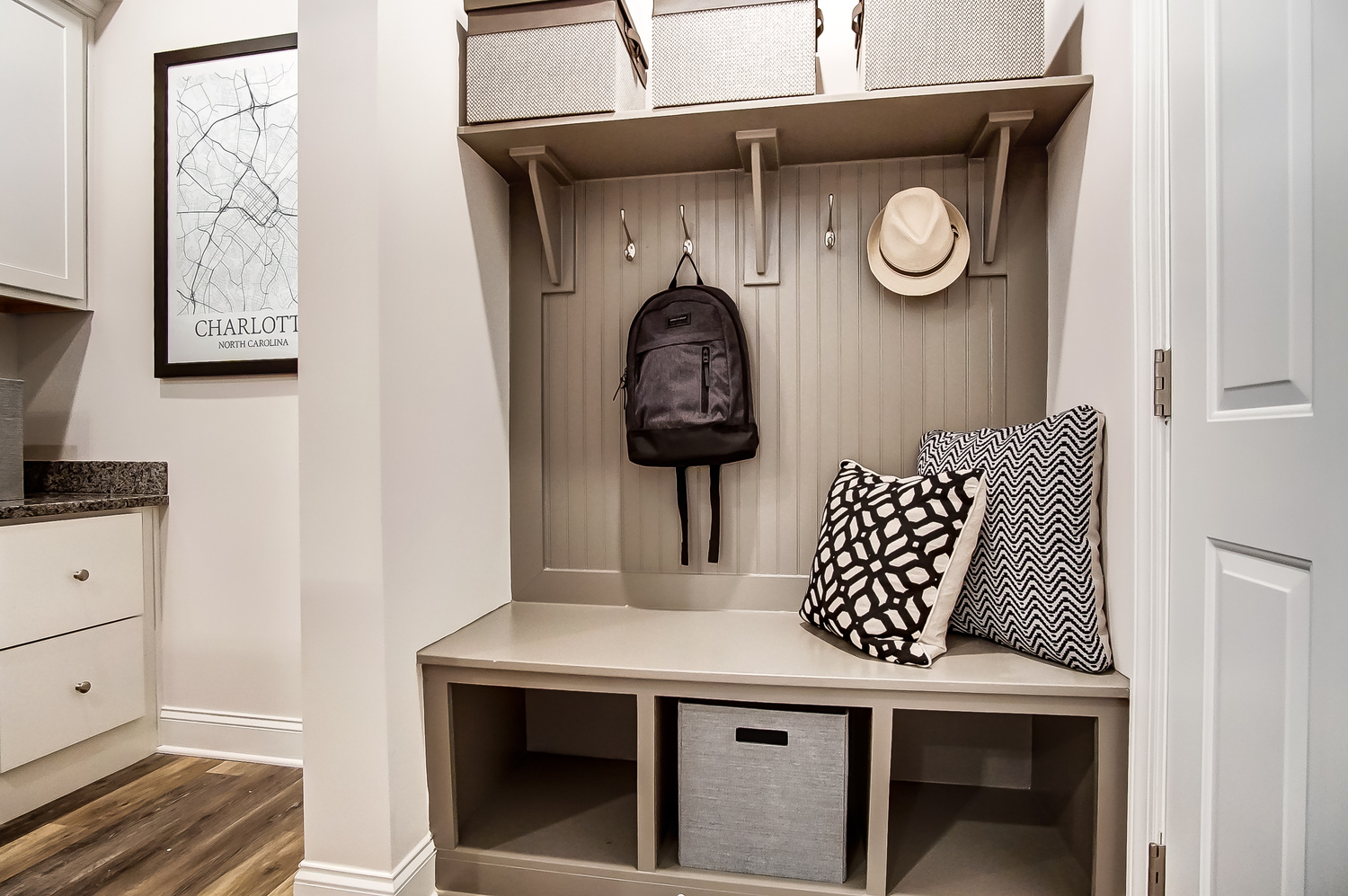 Bluffton Townhome Drop Zone Built-ins