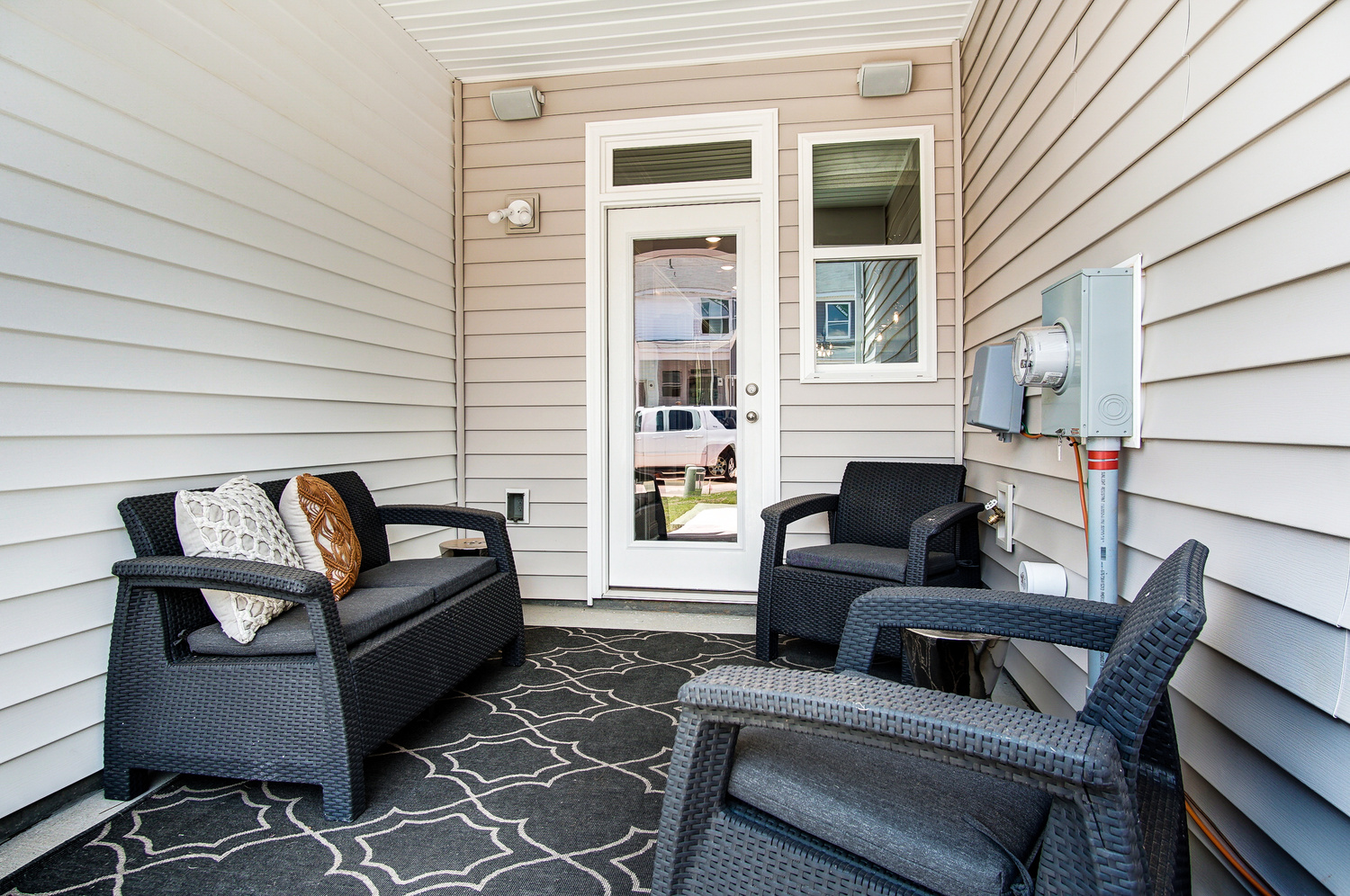 Bluffton Townhome Covered Rear Porch