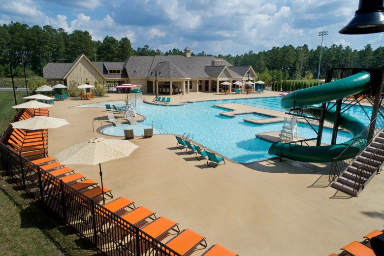 Harpers Mill Pool Aerial