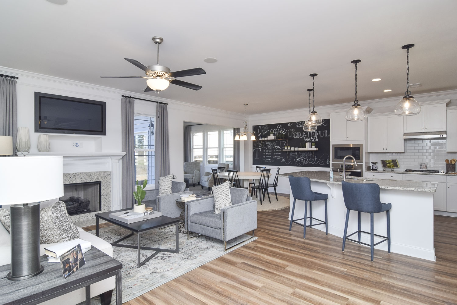 Cypress Family Room and Kitchen