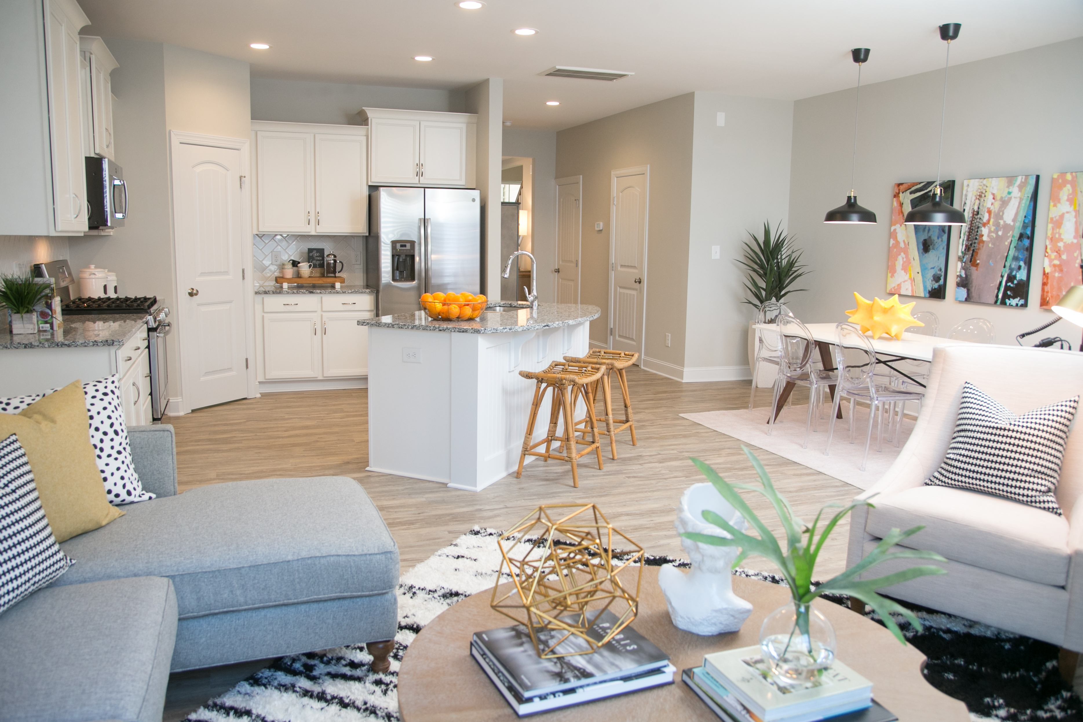Columbia Kitchen and Family Room