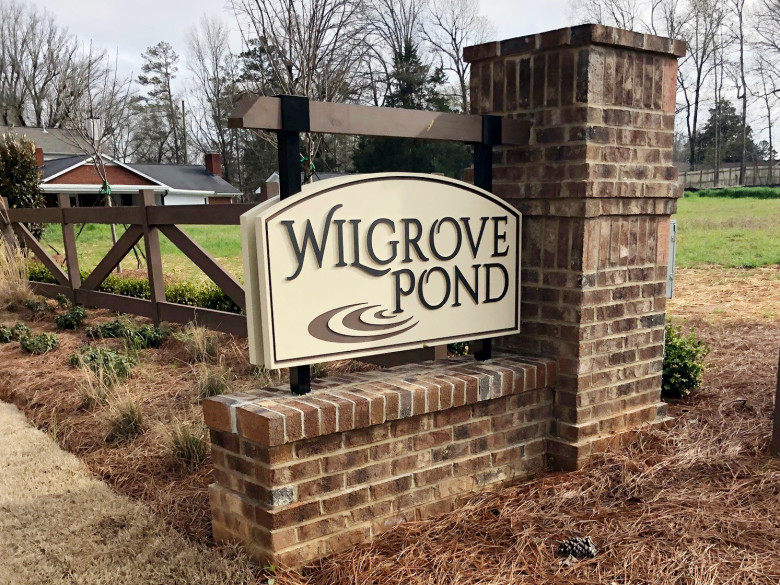Community monument at Wilgrove Pond
