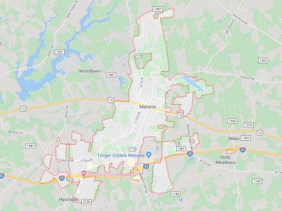 Mebane  Map