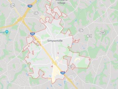 Simpsonville Map