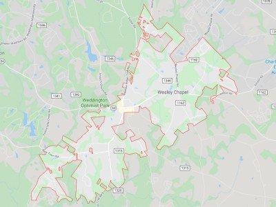 Wesley Chapel  Map